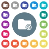 Disabled directory flat white icons on round color backgrounds. 17 background color variations are included. - Disabled directory flat white icons on round color backgrounds