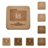 FTP save wooden buttons - FTP save on rounded square carved wooden button styles