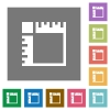 Canvas rulers square flat icons - Canvas rulers flat icons on simple color square backgrounds