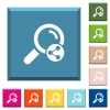 Share search white icons on edged square buttons - Share search white icons on edged square buttons in various trendy colors