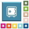Single strong box white icons on edged square buttons - Single strong box white icons on edged square buttons in various trendy colors