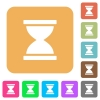Hourglass rounded square flat icons - Hourglass flat icons on rounded square vivid color backgrounds.