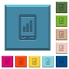 Mobile signal strength engraved icons on edged square buttons - Mobile signal strength engraved icons on edged square buttons in various trendy colors