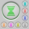 Hourglass push buttons - Hourglass color icons on sunk push buttons