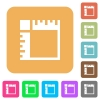 Canvas rulers rounded square flat icons - Canvas rulers flat icons on rounded square vivid color backgrounds.