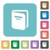 Album rounded square flat icons - Album white flat icons on color rounded square backgrounds