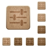 Adjustment wooden buttons - Adjustment on rounded square carved wooden button styles
