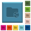 Share directory engraved icons on edged square buttons - Share directory engraved icons on edged square buttons in various trendy colors