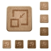 Shrink window wooden buttons - Shrink window on rounded square carved wooden button styles