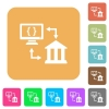 Open banking API rounded square flat icons - Open banking API flat icons on rounded square vivid color backgrounds.