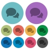 Discussion color darker flat icons - Discussion darker flat icons on color round background