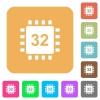 Microprocessor 32 bit architecture rounded square flat icons - Microprocessor 32 bit architecture flat icons on rounded square vivid color backgrounds.