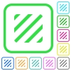 Texture vivid colored flat icons in curved borders on white background - Texture vivid colored flat icons