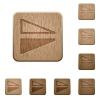 Flip vertical wooden buttons - Flip vertical on rounded square carved wooden button styles