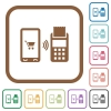 Mobile payment simple icons - Mobile payment simple icons in color rounded square frames on white background