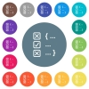 Source code checking flat white icons on round color backgrounds - Source code checking flat white icons on round color backgrounds. 17 background color variations are included.