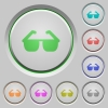 Sunglasses push buttons - Sunglasses color icons on sunk push buttons
