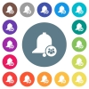 Team reminder flat white icons on round color backgrounds - Team reminder flat white icons on round color backgrounds. 17 background color variations are included.