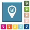 Send GPS map location as email white icons on edged square buttons - Send GPS map location as email white icons on edged square buttons in various trendy colors