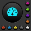 Dashboard dark push buttons with color icons - Dashboard dark push buttons with vivid color icons on dark grey background
