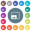 Enlarge photo flat white icons on round color backgrounds - Enlarge photo flat white icons on round color backgrounds. 17 background color variations are included.