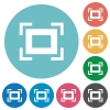Full screen flat round icons - Full screen flat white icons on round color backgrounds