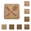 Dining on rounded square carved wooden button styles - Dining wooden buttons