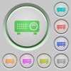 Video projector push buttons - Video projector color icons on sunk push buttons