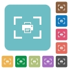 Camera print image rounded square flat icons - Camera print image white flat icons on color rounded square backgrounds