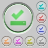 Successfully saved push buttons - Successfully saved color icons on sunk push buttons