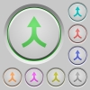 Merge arrows up push buttons - Merge arrows up color icons on sunk push buttons