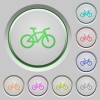 Bicycle color icons on sunk push buttons