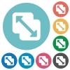 Merge shapes flat round icons - Merge shapes flat white icons on round color backgrounds