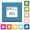 Browser 503 Service Unavailable white icons on edged square buttons - Browser 503 Service Unavailable white icons on edged square buttons in various trendy colors