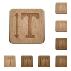 Adjust font height wooden buttons - Adjust font height on rounded square carved wooden button styles