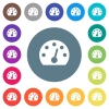 Dashboard flat white icons on round color backgrounds - Dashboard flat white icons on round color backgrounds. 17 background color variations are included.