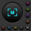Camera save image dark push buttons with color icons - Camera save image dark push buttons with vivid color icons on dark grey background