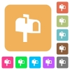 Mailbox rounded square flat icons - Mailbox flat icons on rounded square vivid color backgrounds.