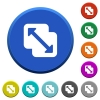 Merge shapes beveled buttons - Merge shapes round color beveled buttons with smooth surfaces and flat white icons