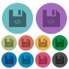 Script file color darker flat icons - Script file darker flat icons on color round background
