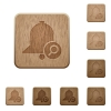 Find reminder wooden buttons - Find reminder on rounded square carved wooden button styles