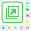 Open in new window vivid colored flat icons - Open in new window vivid colored flat icons in curved borders on white background