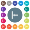 Align to left flat white icons on round color backgrounds - Align to left flat white icons on round color backgrounds. 17 background color variations are included.