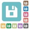 File stop rounded square flat icons - File stop white flat icons on color rounded square backgrounds