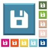 File stop white icons on edged square buttons - File stop white icons on edged square buttons in various trendy colors