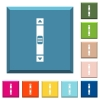 Vertical scroll bar white icons on edged square buttons - Vertical scroll bar white icons on edged square buttons in various trendy colors