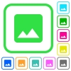 Image vivid colored flat icons - Image vivid colored flat icons in curved borders on white background
