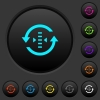 Adjust refresh rate dark push buttons with color icons - Adjust refresh rate dark push buttons with vivid color icons on dark grey background