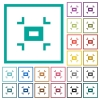 Small screen flat color icons with quadrant frames - Small screen flat color icons with quadrant frames on white background