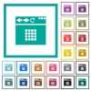 Browser homescreen flat color icons with quadrant frames - Browser homescreen flat color icons with quadrant frames on white background